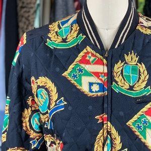 Vintage Anne Klein II RARE 100% Silk Bomber Jacket